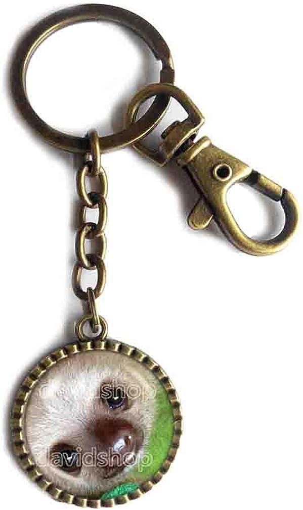 Baby Sloth Key Chain Key Ring Cute Keyring Car Symbol Pet Vintage Cute Animal Fashion Jewelry Cosplay