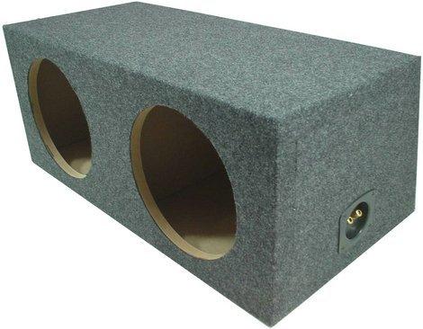 "Car Audio Dual 15"" Sealed Subwoofer Rear Angle Sub Box Enclosure 5/8"" MDF Wood"