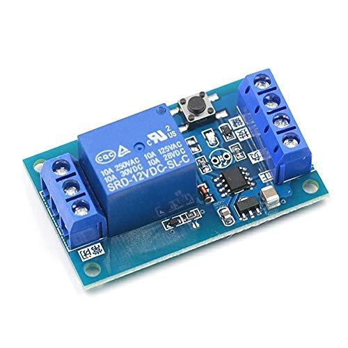 XYHHStor Relé Interruptor Modificación DC 12V Bonding Módulo de relé biestable de Coches de Arranque-Parada autoblocante Relay Relé electrónico,