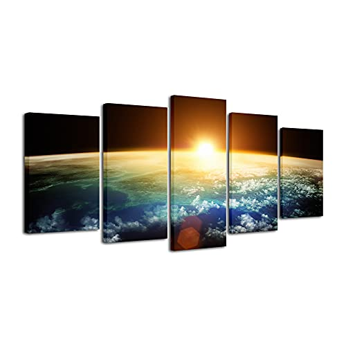 Pyradecor The Earth Canvas Prints Wall Art Outer Space Pictures Paintings...
