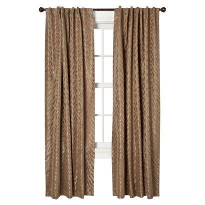 "Target Home Faux Silk Zebra Window Panel, Curtain, Drape - Brown (54"" x 84"") One Panel"