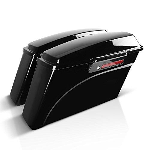 Maletas Laterales para Harley Davidson Road Glide Custom (FLTRX) 10-13, Black Latch