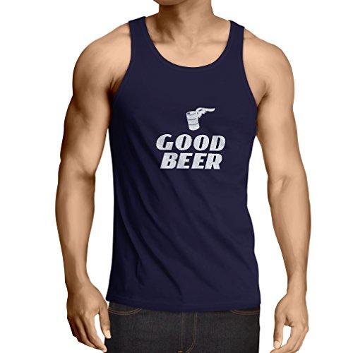 lepni.me Weste Ich Brauche EIN gutes Bier, Geschenk für Bierliebhaber Partykleidung (XX-Large Blau Weiß)