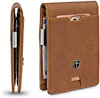 TRAVANDO Mens Slim Wallet with Money Clip AUSTIN RFID Blocking Bifold Credit Card Holder for Men with Gift Box