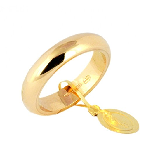 Klassischer Ehering Unoaerre von 10Gramm Gold Gelb 18kt