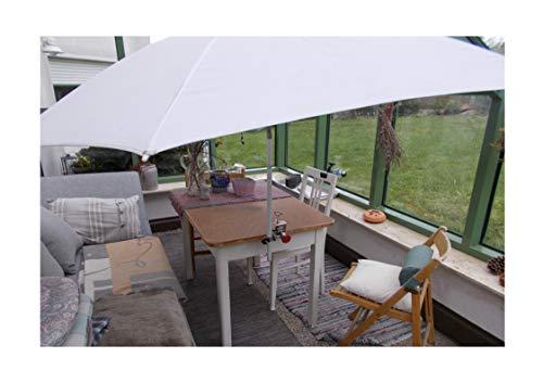 Holly Parasol breveté STABIELO'S - en Acier Inoxydable - Support Rotatif à 360° en 4 Axes pour Tige jusqu'à 38 mm de diamètre - pour balustrades - Ronde ou carrée avec Un diamètre de 65 mm