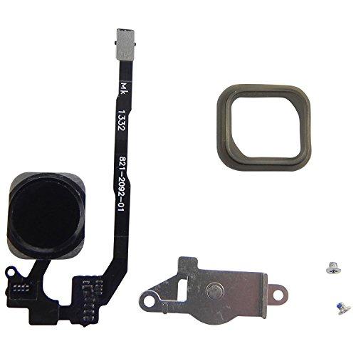 ToKa-Versand® - Home Button für iPhone 5S Homebutton + Flexkabel + Halter + Gummi Dichtung + 2X Schrauben 6in1 Schwarz