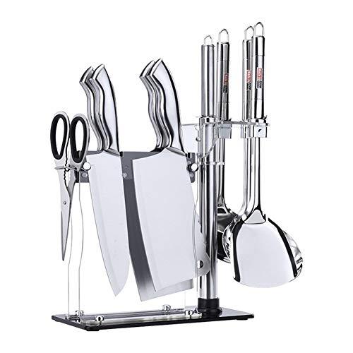 Set cuchillos Acero inoxidable cuchillo de cocina kit de herramienta de conjuntos de diez juegos de regalo de cuchillos combinaciones (Color : Knife set)