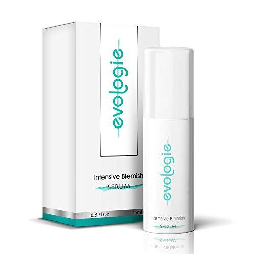 evologie Intensive Blemish Serum | Helps Clear Acne, Dark Spots & Scars | Non-Drying, Hypoallergenic, Natural Ingredients | 0.5 Fl. Oz