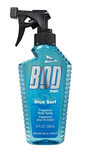 BOD Man Fragrance Body Spray, Blue Surf, 8 Fluid Ounce