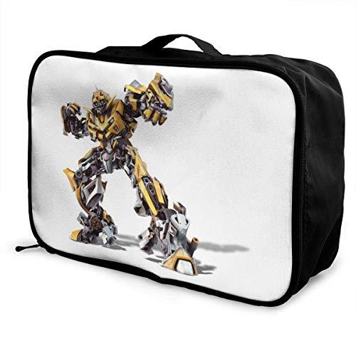 Transformers Bumblebee Travel Duffel Bag Storage Packet Foldable Waterproof Lightweight Portable High Capacity