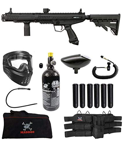 Maddog Tippmann Stormer Tactical Corporal HPA Paintball Gun Marker Starter Package - Black