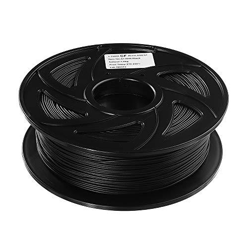 Junlianxianyanglijua 3D Pen Filament Fibre de Carbone Noir Filament 1 kg/Rouleau 1.75mm for imprimante 3D, Faible Poids
