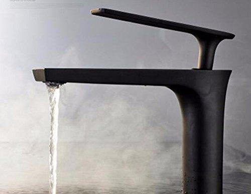 Qmpzg-Le corps en laiton robinet baignoire toilettes Lavabo Robinet froid et bain à remous extérieure Tableau laqué noir mixeur mélangeur à pâte D
