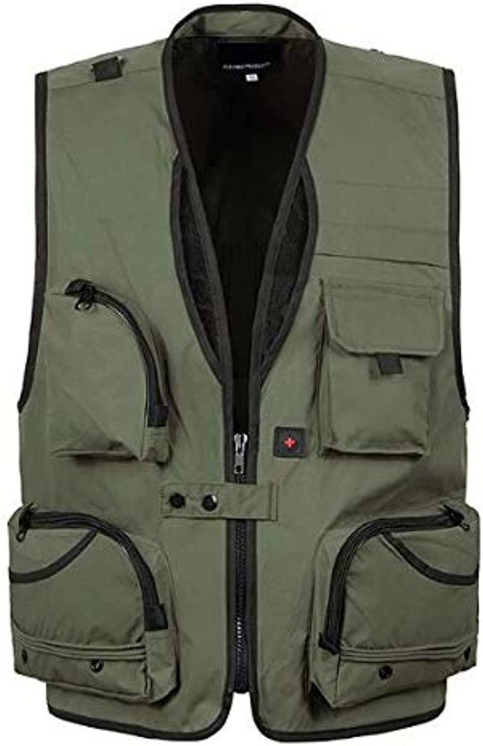 Men's Mesh Vest MultiPocket Breathable Casual Jacket Photography Camping