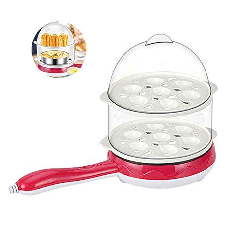 Eierkocher, Deluxe Double Layer Rapid Noise-Free Cooker Electric, für pochierte Eier, Rührei, Omelett, Knödel und mehr, Kapazität von 14 Eiern