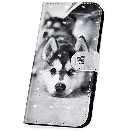 JAWSEU Compatible avec Coque Huawei Honor 10 Cuir PU Portefeuille,Pochette Cuir à Rabat Housse de Protection 3D Rétro Créatif Motif Magnétique Stand Ultra Slim Flip Wallet Case,#4