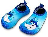 Toddler Kids Swim Water Shoes Quick Dry Non-Slip Water Skin Barefoot Sports Shoes Aqua Socks for Boys Girls Toddler, Shark, 10 Toddler