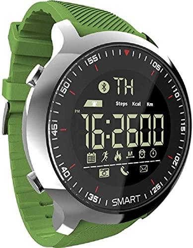Reloj Inteligente Smartwatch IP68 Impermeable Podómetros Deportes Reloj Inteligente Llamada Mensaje Recordatorio-Verde