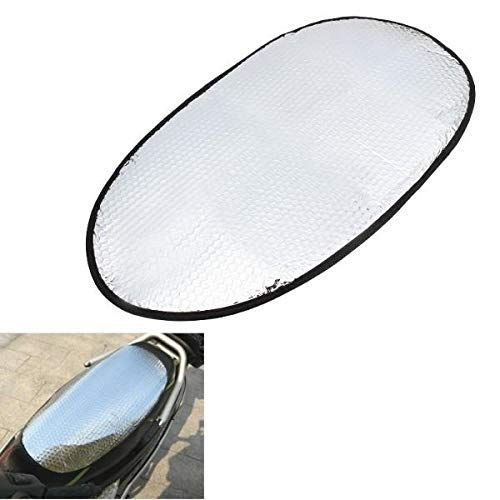 Inllex Universal Air Bubble Motorcycle Seat Cover Protective Mat Waterproof Sunscreen Pad with Elastic Band Silver Bubble Type