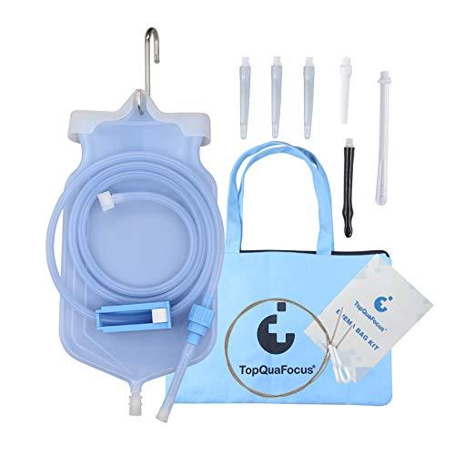 TopQuaFocus Klistier Set Einlauf Set Zur Darmreinigung(BPA- Und Phthalat Frei) Premium Reise Irrigator Set 2 Liter