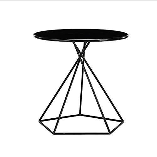 Petite table basse Petite table basse Petite table d'appoint Table ronde Art de fer Nordic Simple Table d'appoint latérale Salon canapé d'angle chambre Mini