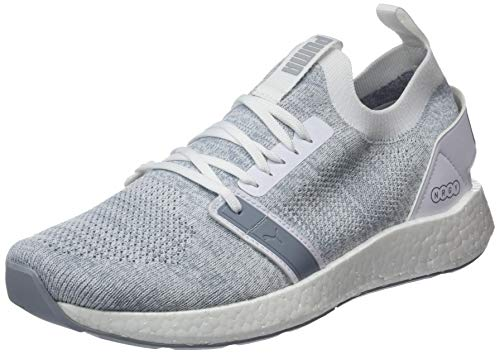 Puma NRGY NEKO ENGINEER KNIT, Herren Laufschuhe, Weiß (PUMA WHITE-QUARRY 04), 42 EU (8 UK)