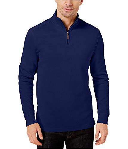Club Room Mens Ribbed Pullover Sweater, Blue, Small