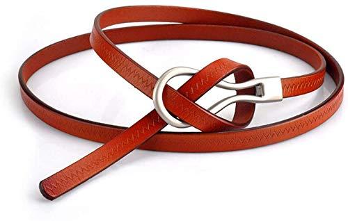 Riemen Women Waist Belt Leather Strakke Ladies Belt Belt Dress Exquisite en elegante vrouwen Skinny Riem for Jurken Retro Stretch dames riem (Kleur: Bruin, Maat: 100cm) (Color : Brown, Size : 80cm)