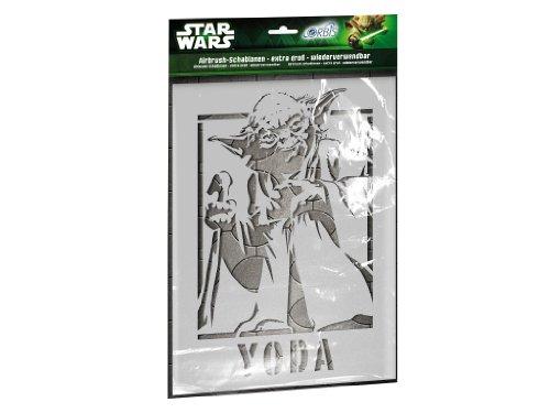 Orbis Airbrush, Orbis-Schablonenset Star Wars Meister Yoda XXL, DIN A3 Profi-Airbrush-Schablonen für alle Untergründe geeignet, 5 detailreiche Schablonen aus strapazierfähiger Folie - 30215