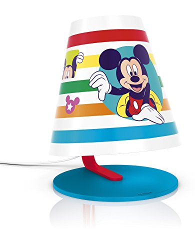 Philips et Disney, lampe de table lED 3 W Mickey Mouse multicolore