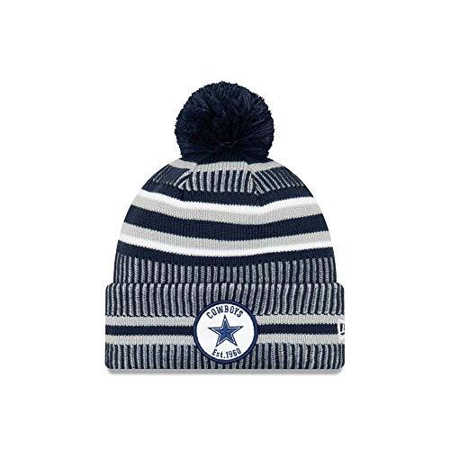 New Era Gorro Dallas Cowboys para Hombre, Color Azul, Talla única