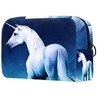 化粧トイレタリーバッグ 女性のための財布化粧品旅行キットオーガナイザー,馬の印刷