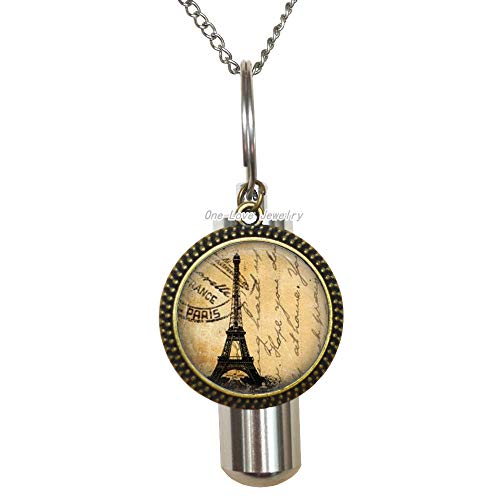 Ni36uo0qitian0ozaap Paris Jewelry Paris URN Eiffel Tower Cremation URN Necklace Wearable Art URN Charm,Eiffel Tower Cremation URN Necklace,Paris Jewelry,Friend Gift,Paris Lover Gift,TAP391