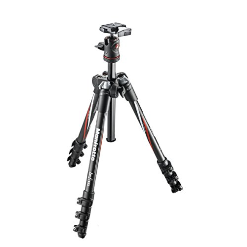 Manfrotto MKBFRC4-BH Befree Carbon Fiber Travel Tripod and Two Replacement Quick Release Plates for the RC2 Rapid Connect Adapter