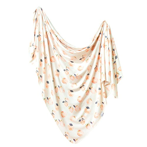Large Premium Knit Baby Swaddle Receiving Blanket Caroline by Copper Pearl