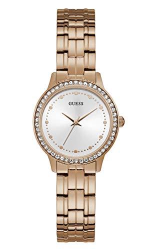 Guess W1209L3 Chelsea - Reloj de cuarzo para mujer, esfera plateada