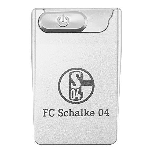 FC Schalke 04 Feuerzeug/Sturmfeuerzeug ** USB Card Lighter ** Silber