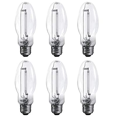 Luxrite LR20695 LU100/ED17 100-Watt HID High Pressure Sodium Light Bulb, Warm White 2100K, 9500 Lumens, E26 medium base