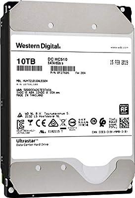 "HGST WD Ultrastar DC HC510 10TB 7200 RPM SATA 6Gb/s 3.5"" Helium Platform Enterprise Hard Disk Drive - HUH721010ALE604 (0F27606)"