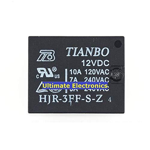 10pcs HJR-3FF-S-Z 12V DC12V 10A T73 relay