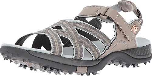 FootJoy Women's Sandals Golf Shoes Beige 8 M, tan/light Grey, US