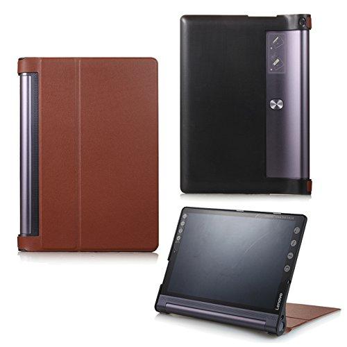 Funda para Lenovo Yoga Tab 310Plus YT-X703F/L y Lenovo Tab 310Pro YT3-X90F, funda inteligente con función Wake & Sleep, con lápiz táctil incluido marrón marrón