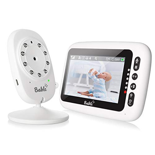 "Bable Baby Monitor with Camera and Audio No Wifi, 2.4G Wireless Secure Connection, 4.3"" Digital Display, 2 Way Talk, Night Vision, VOX, Temperature Monitor, 8 Lullabies, 980ft Range, Long Battery Life Monitors"
