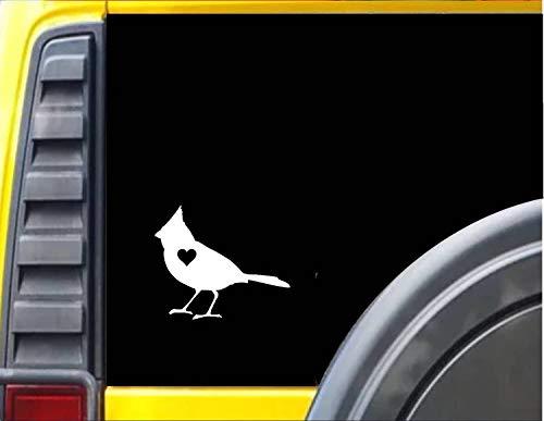 DKISEE sticker sticker kardinaal klein hart sticker sticker laptop vinyl sticker raam muur sticker auto sticker 5 inch Onecolor