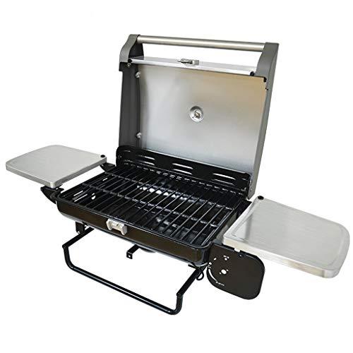 TY-Barbacoa Horno de Parrilla de carbón de leña Redondo portátil al Aire Libre de Parrilla Redonda