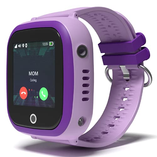 Turet Kids Silicone Phone Smartwatch with GPS Locator - Goldfish (Purple)