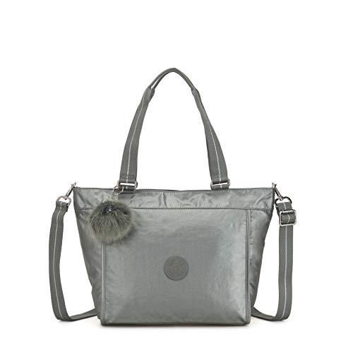 Kipling Damen New Shopper S Tote Grau (Metallic Stony)