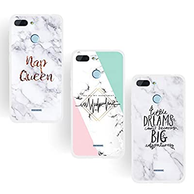 ChoosEU Compatible con 3X Fundas Xiaomi Redmi 6 Silicona Dibujos Mármol Creativa Carcasas para Chicas Mujer Hombres TPU Case Antigolpes Bumper Cover Caso Protección - Reina, Sueño