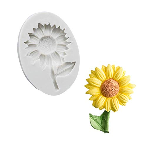 Sunflower Cake Fondant Molds, Sun Flower Silicone Chocolate Candy Sugar Craft Gum Paste Mold for Baby Shower Cake Cupcake Decorating Polymer Clay Resin Mould